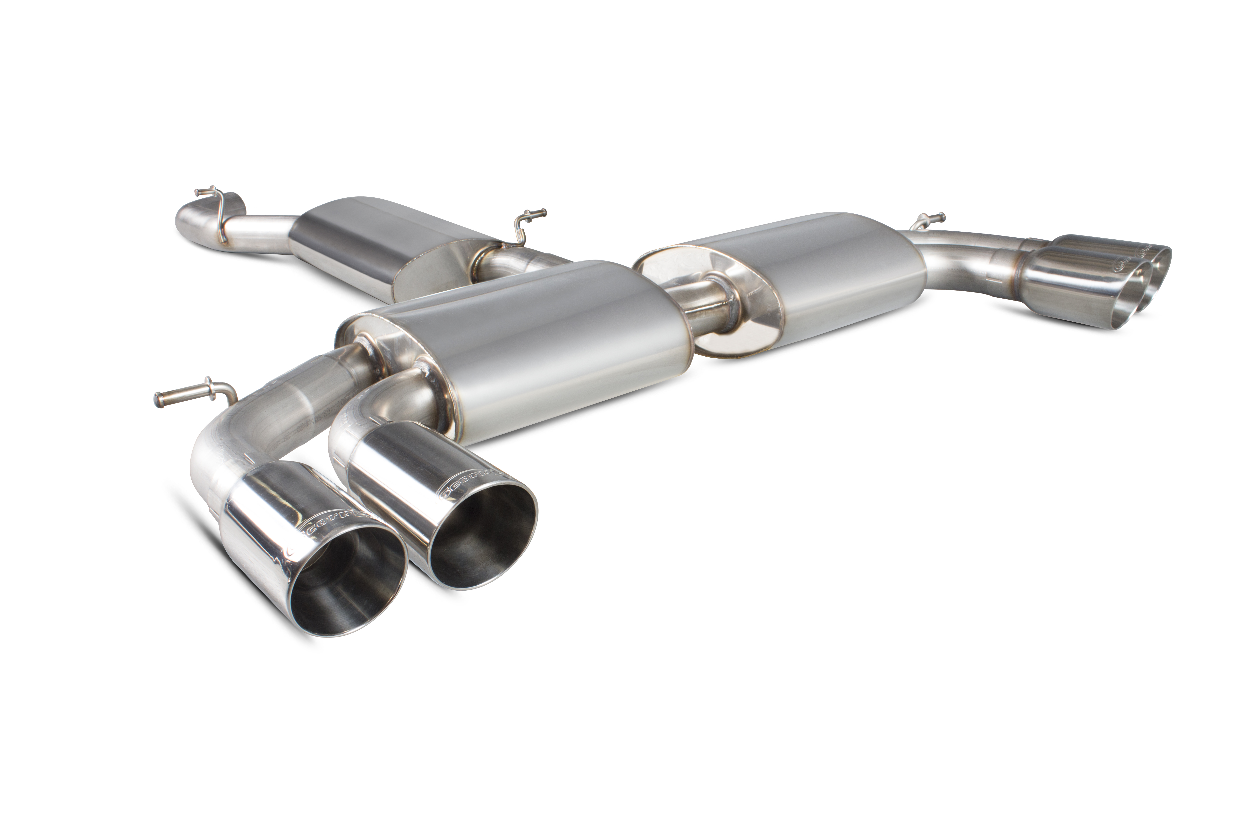 Scorpion Resonated cat-back system with no valves Audi S3 2.0T 8V Saloon SAU052D