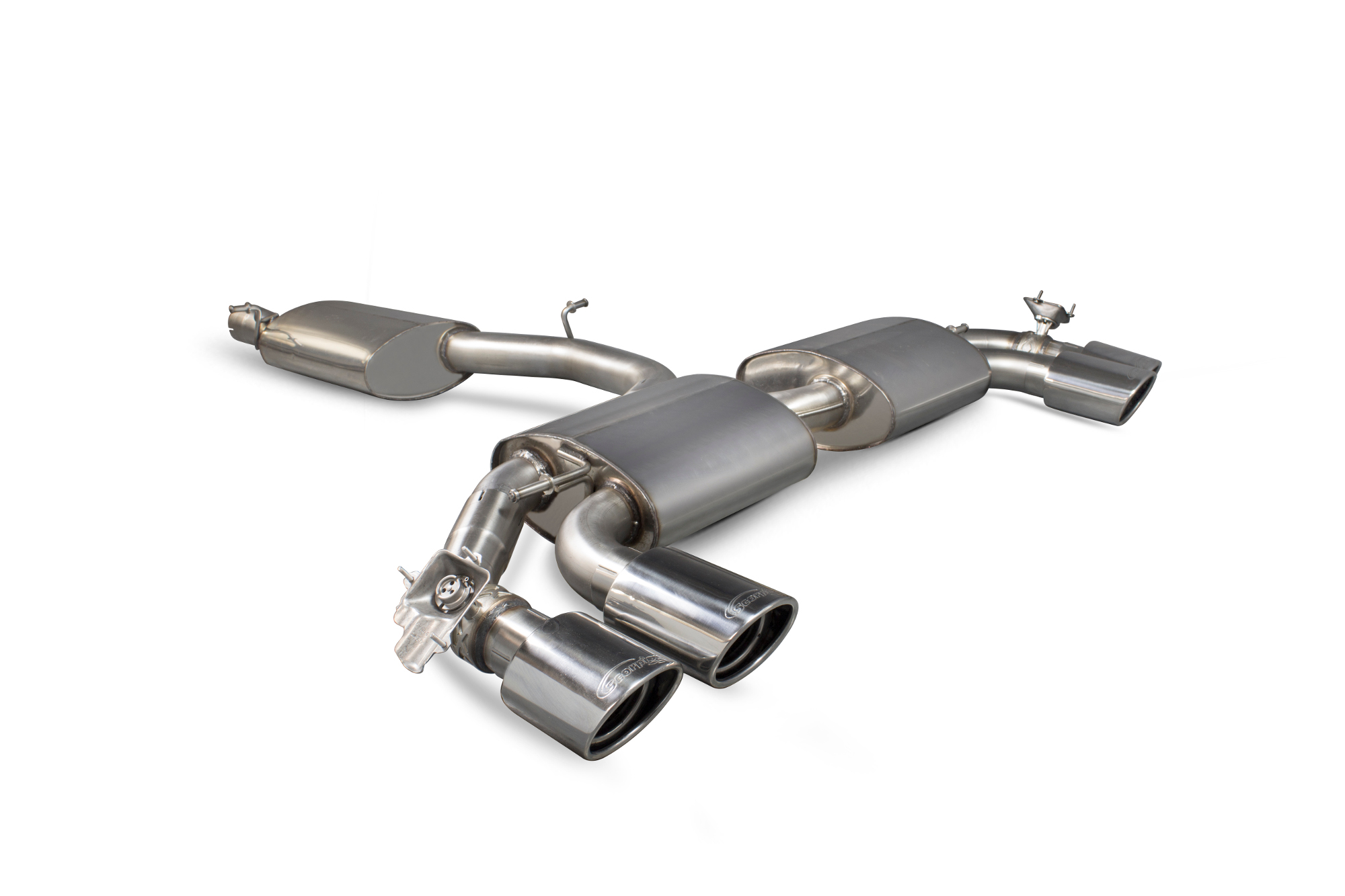 Scorpion Reasonated cat-back (with valves)  Audi TT S Mk3 Non GPF Model Only (Coupe models only) SAU055