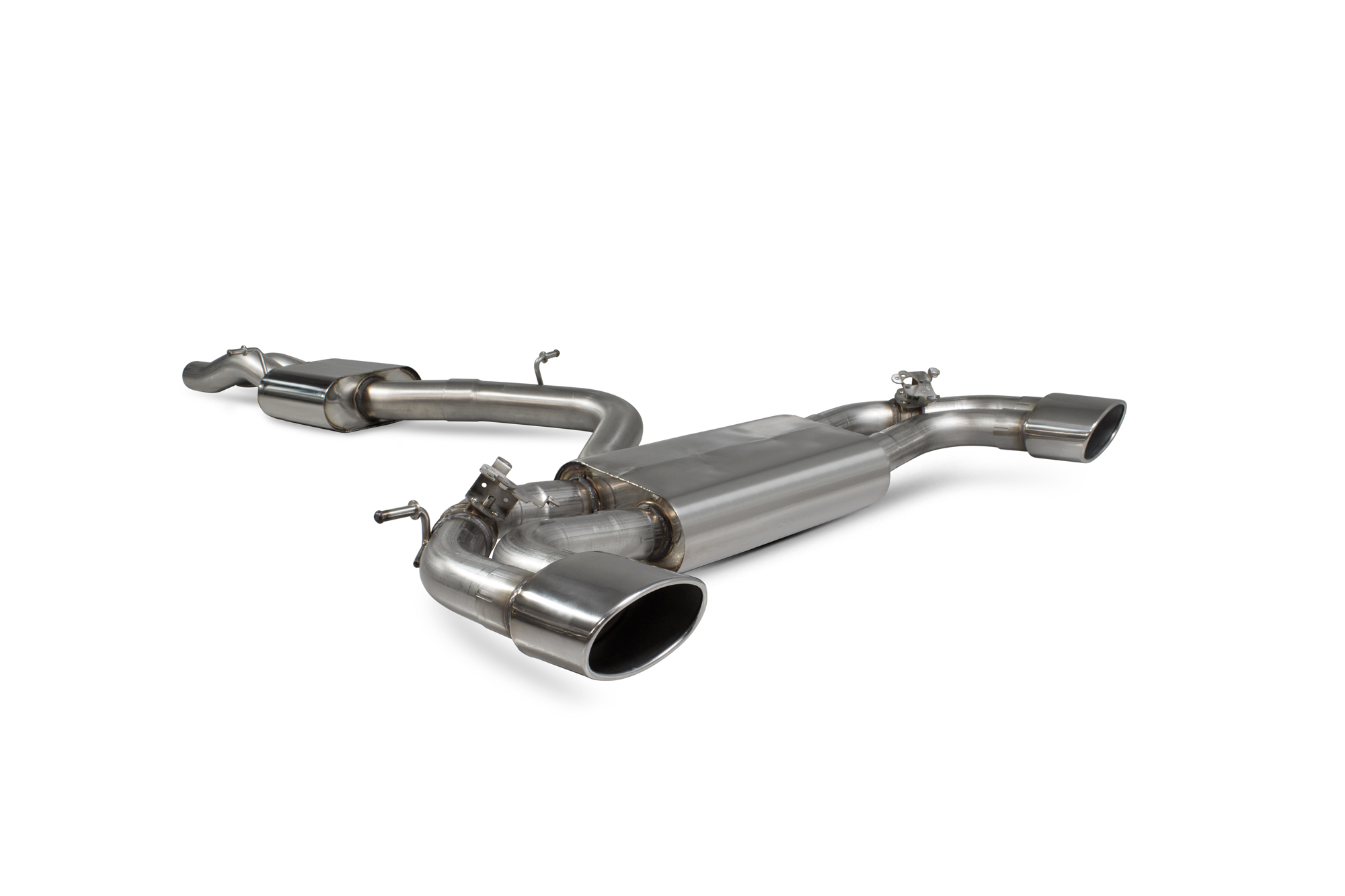 Scorpion Resonated cat-back system with electronic valves Audi RS3 Saloon 8V MQB (GPF and non GPF models) SAU083