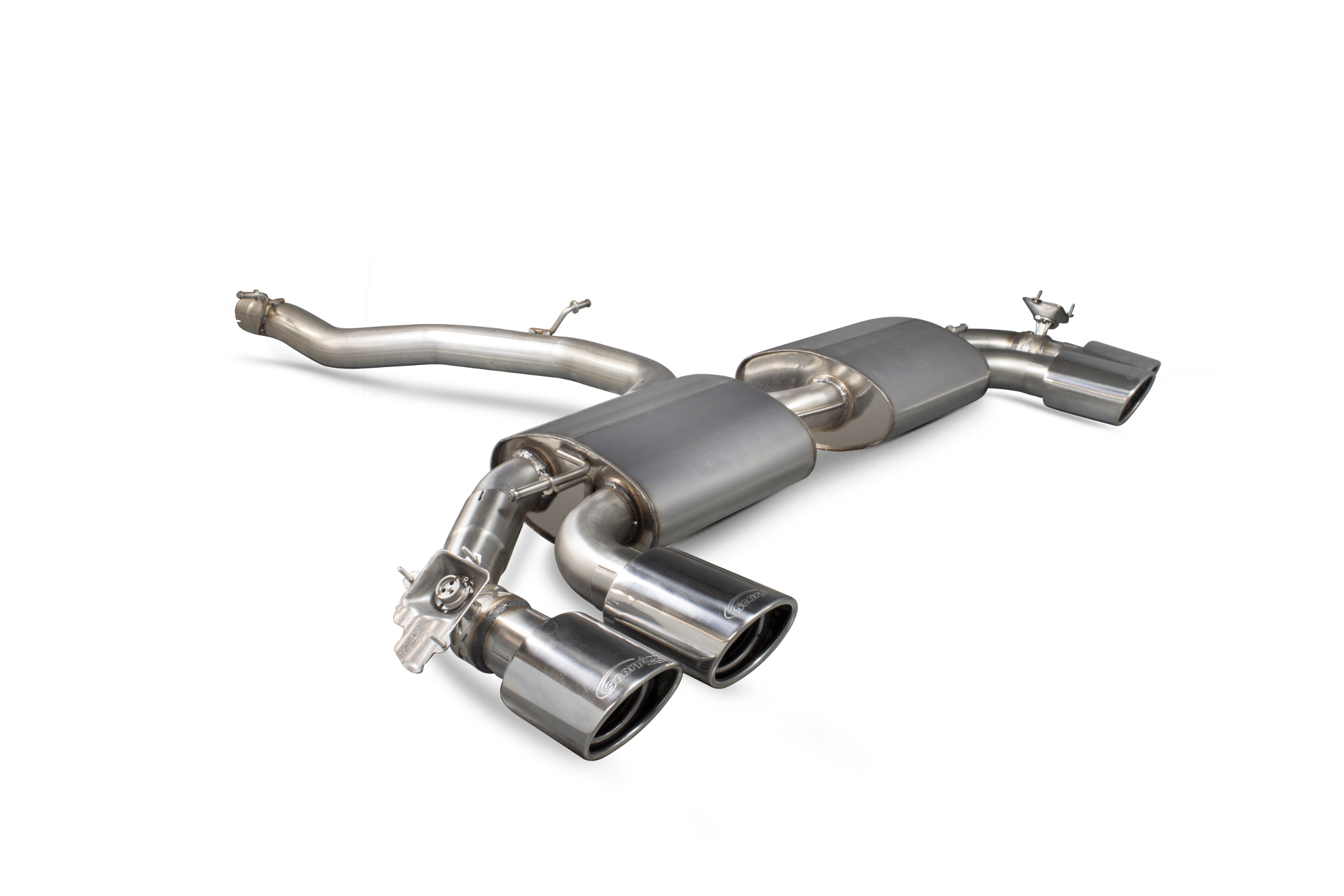 Scorpion Non-resonated cat-back system (with valves)  Audi TT S Mk3 Non GPF Model Only (Coupe models only) SAUS055